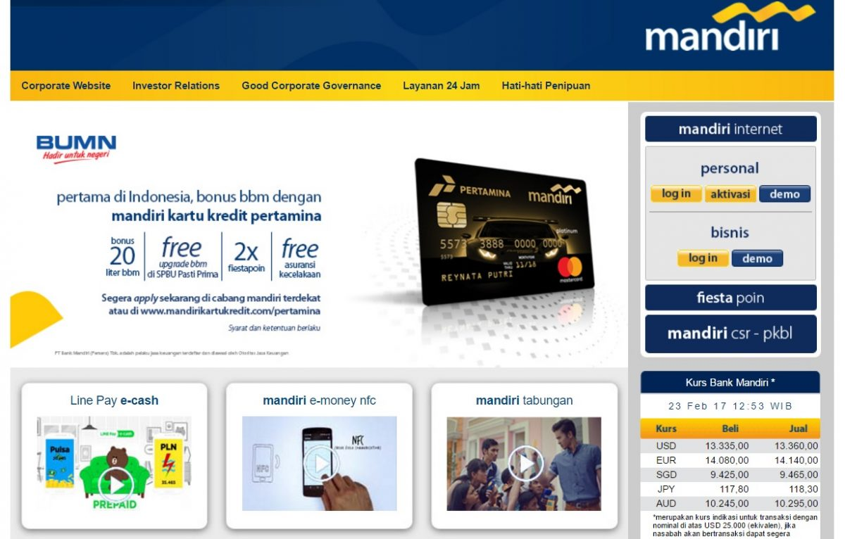 Cara Mendaftar Mandiri Internet Banking